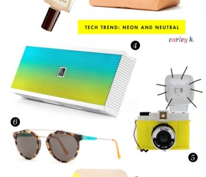 Neon & Neutral : Tech Trend
