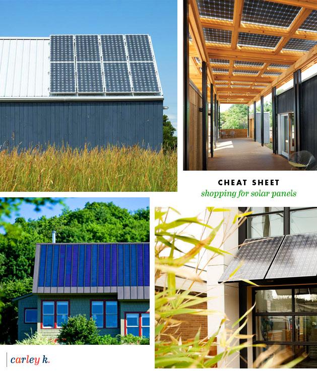 Cheat Sheet Shopping For Solar Panels Carley K