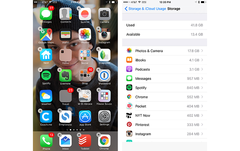 apps: clearing hard drive space