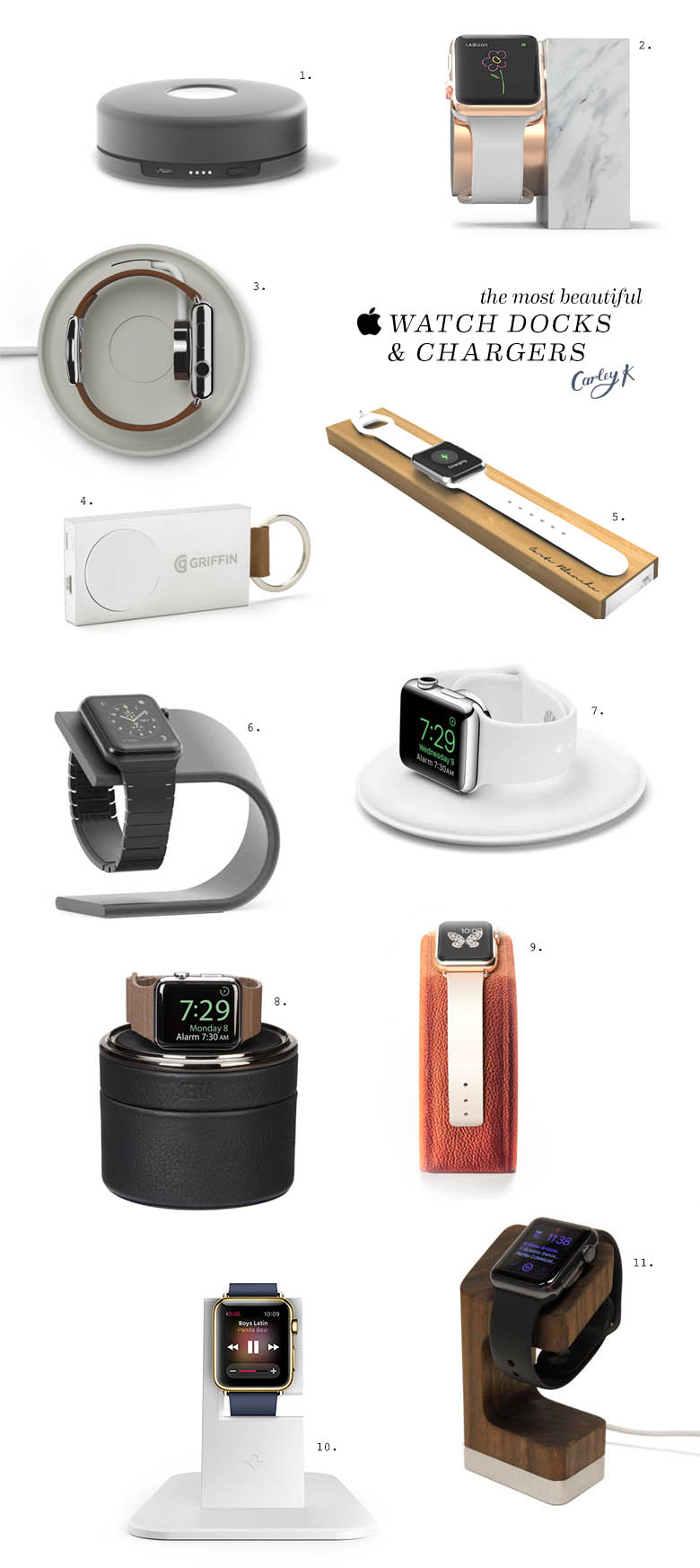 beautiful apple watch docks and chargers
