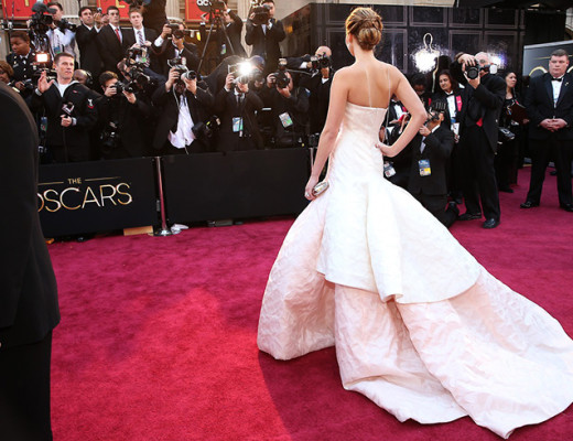 HOLLYWOOD, CA - FEBRUARY 24:  Actress Jennifer Lawrence arrives at the Oscars held at Hollywood & Highland Center on February 24, 2013 in Hollywood, California.  (Photo by Christopher Polk/Getty Images)