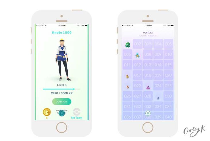 Pokédex and Avatar from Pokémon Go