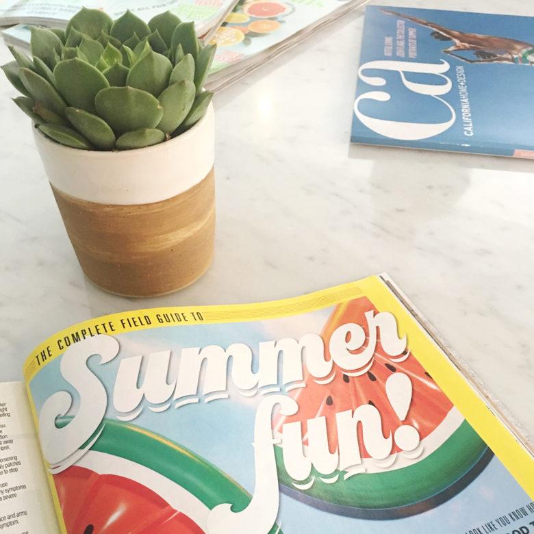 magazines: redbook and good housekeeping