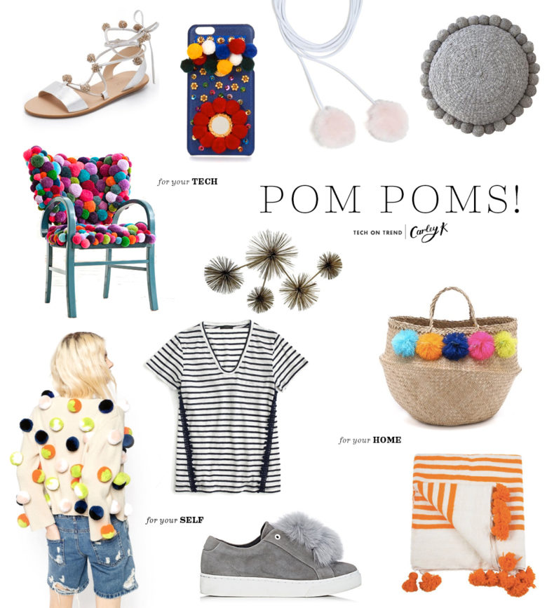 Pom Poms: Tech on trend