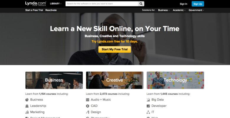 lynda: online classes