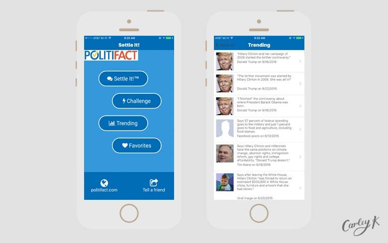 election apps: Politifact
