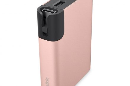 Belkin MIXIT portable battery in rose gold