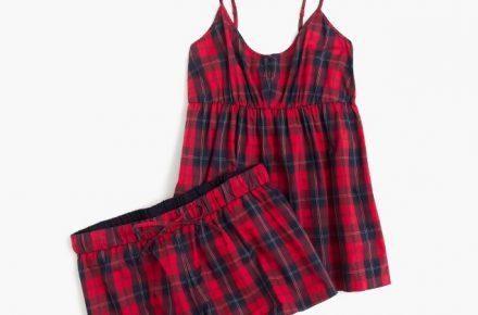 J. Crew camisole PJ set in red plaid