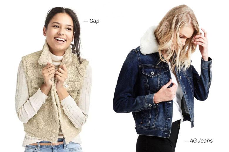 Shearling + Sherpa: Winter fashion trends