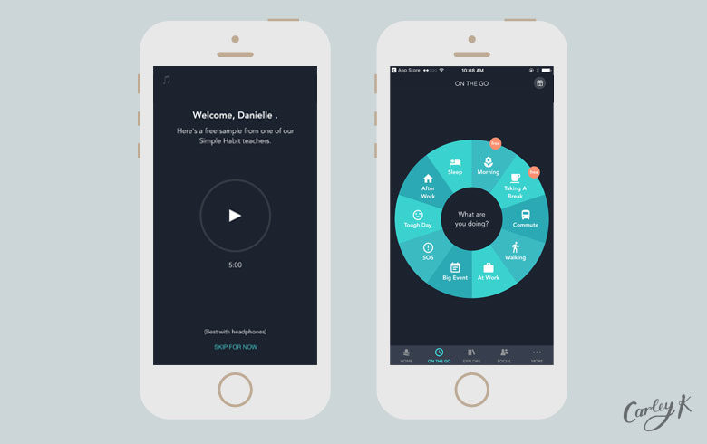 Simple Habit: Mindfulness apps