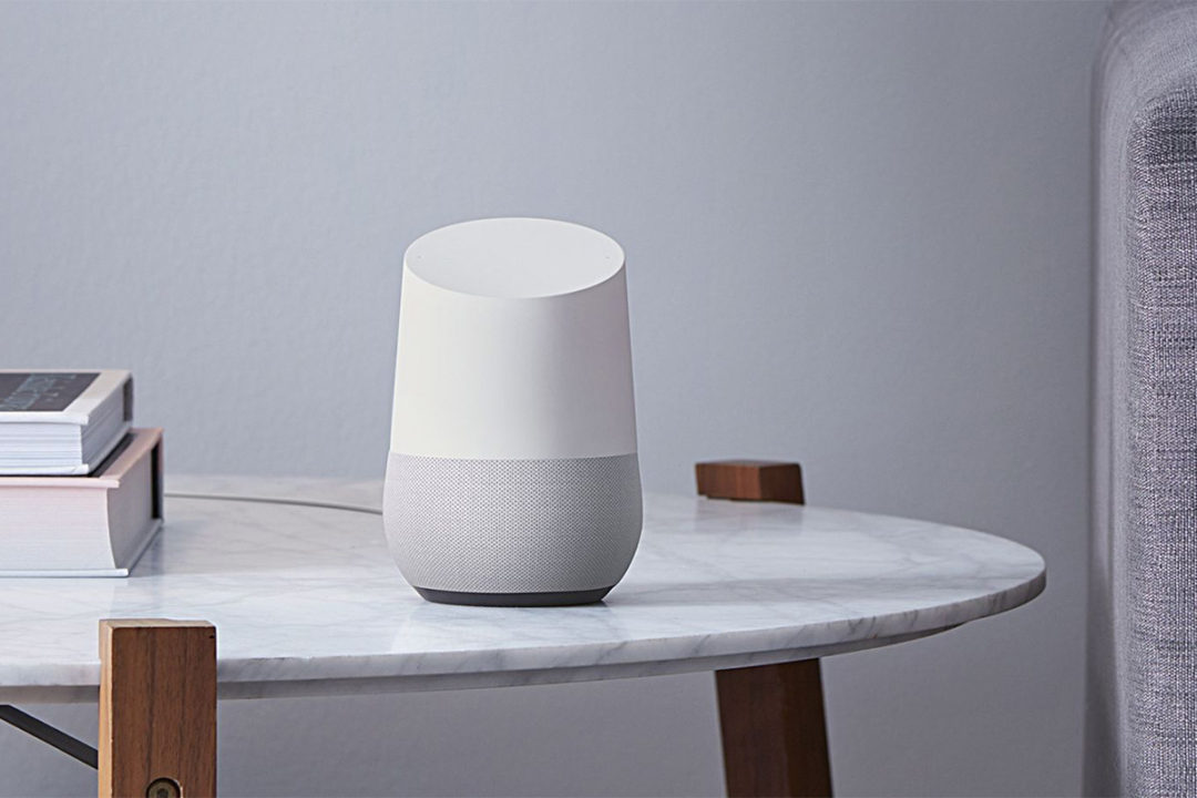 devices listening: google home