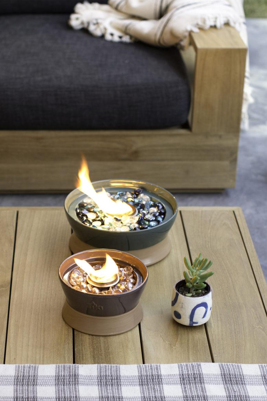 Tiki Brand Clean Burn Tabletop Firepiece
