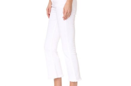 Current Elliott Cropped Flip Flop Jeans