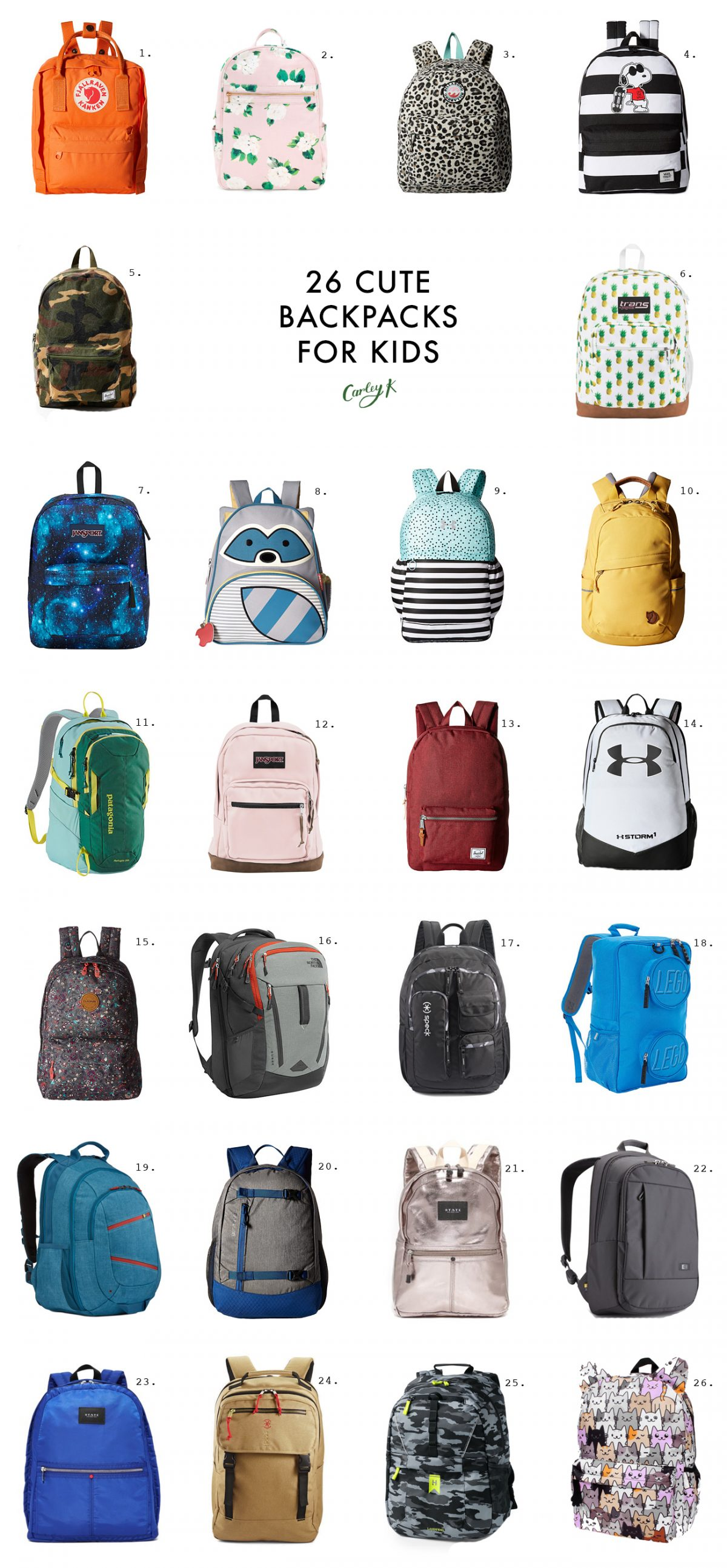 26 Cute Kids Backpacks