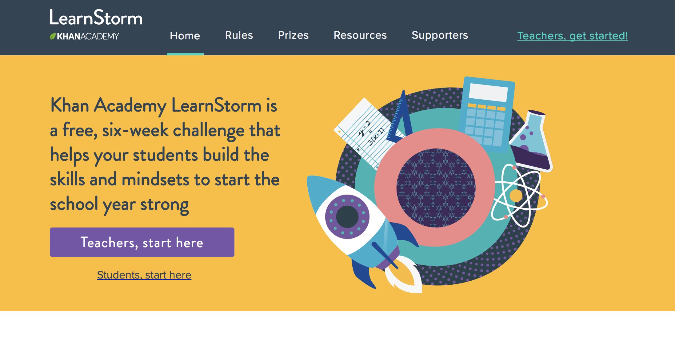 Summer Slide: Khan Academy Learnstorm