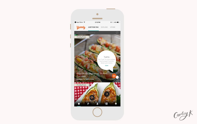 healthy eating apps: Yummly