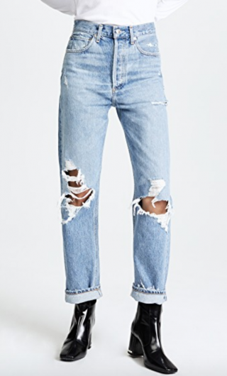 A Gold E Distressed Jeans