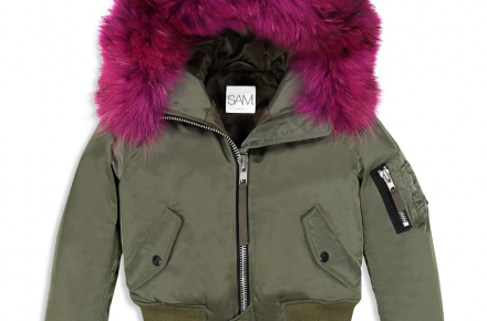 Bomber with fur liner