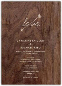 Wood Love Card by Paperless Post