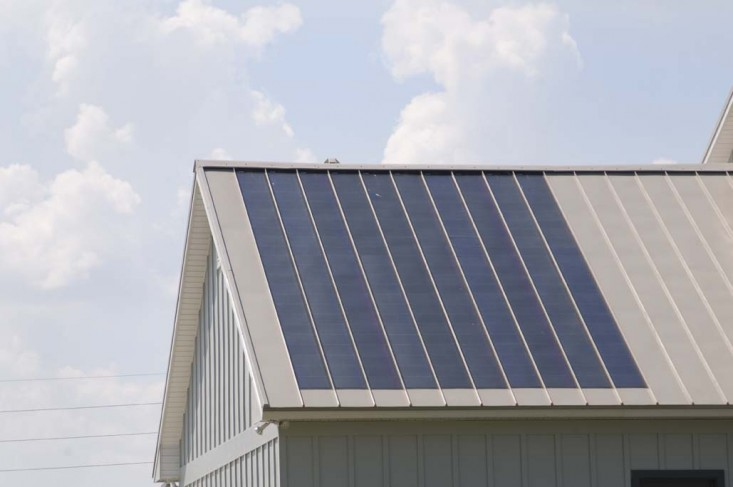 Standing Seam Metal Roof Blue