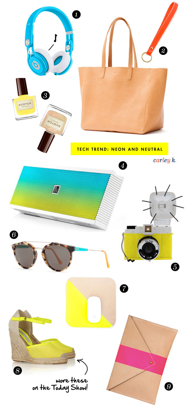 Tech on trend: Neon and neutral