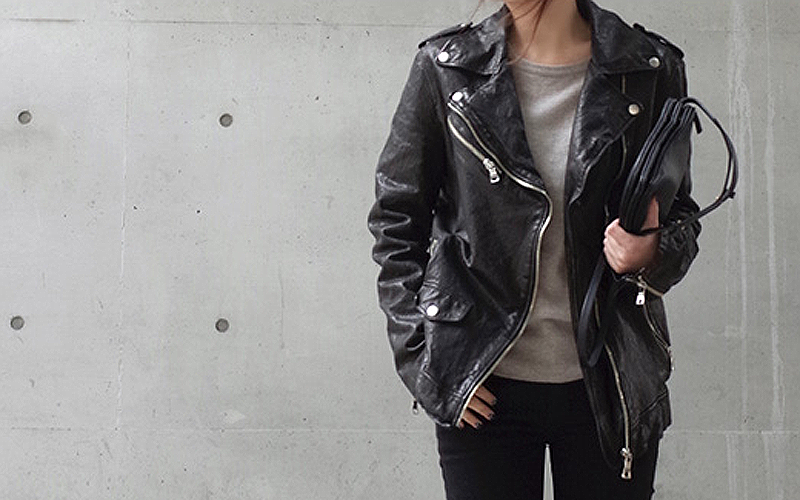 Tech on Trend: Black leather