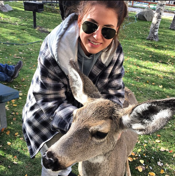 Danielle and deer