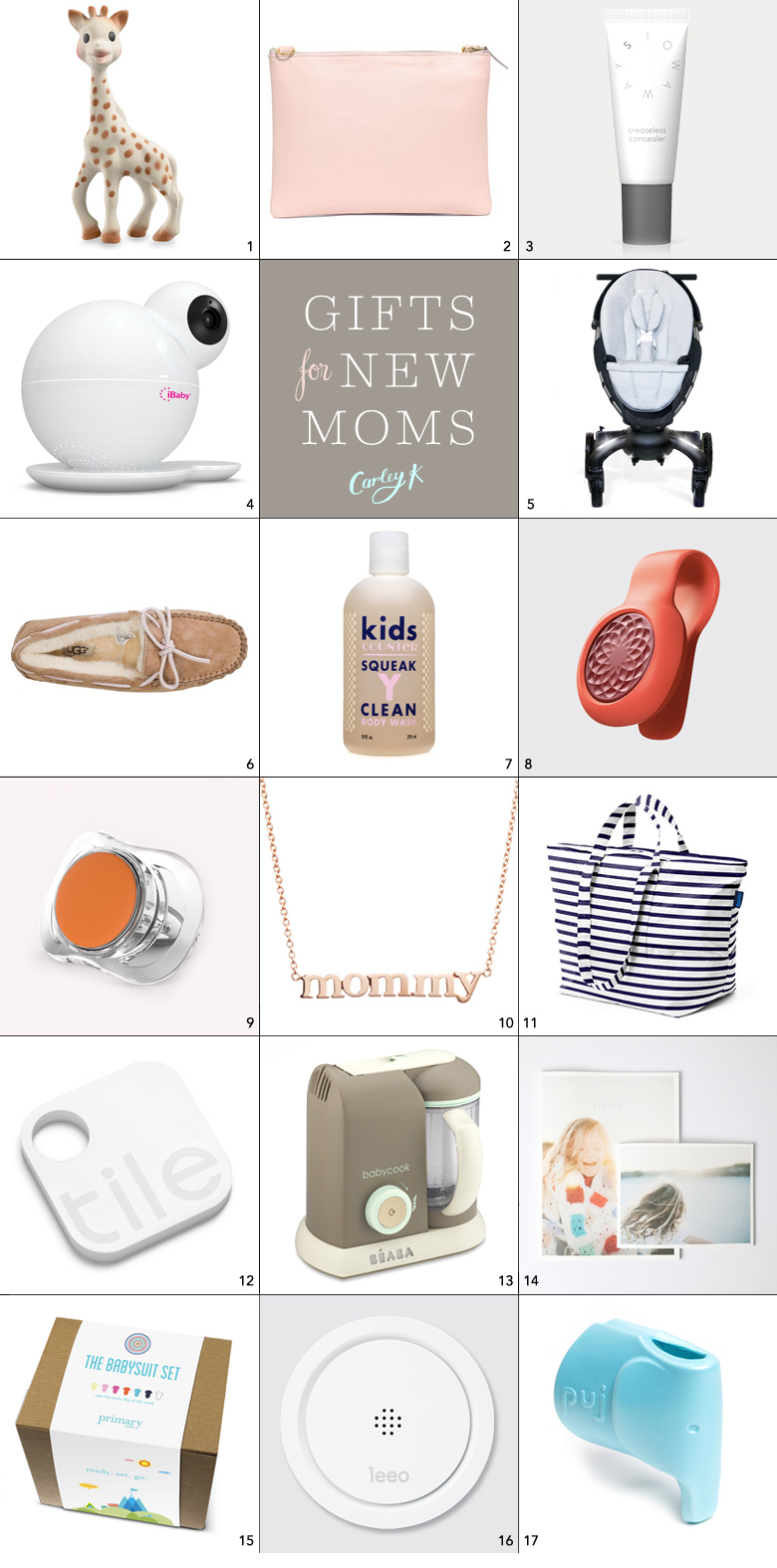 gifts for new moms carley k