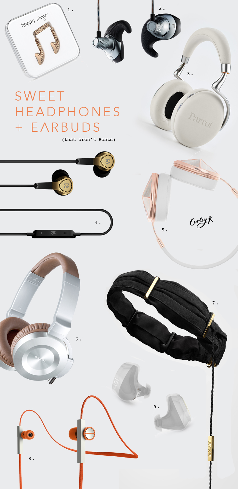 Beautiful Headphones & Earbuds