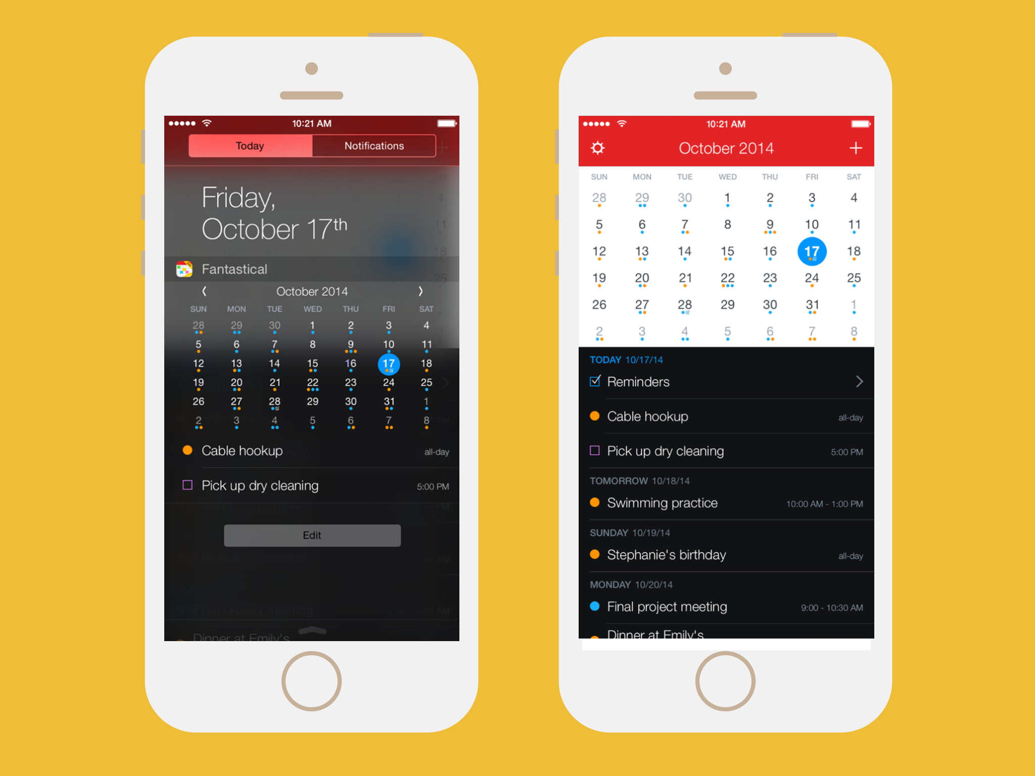 calendar apps: fantastical 2