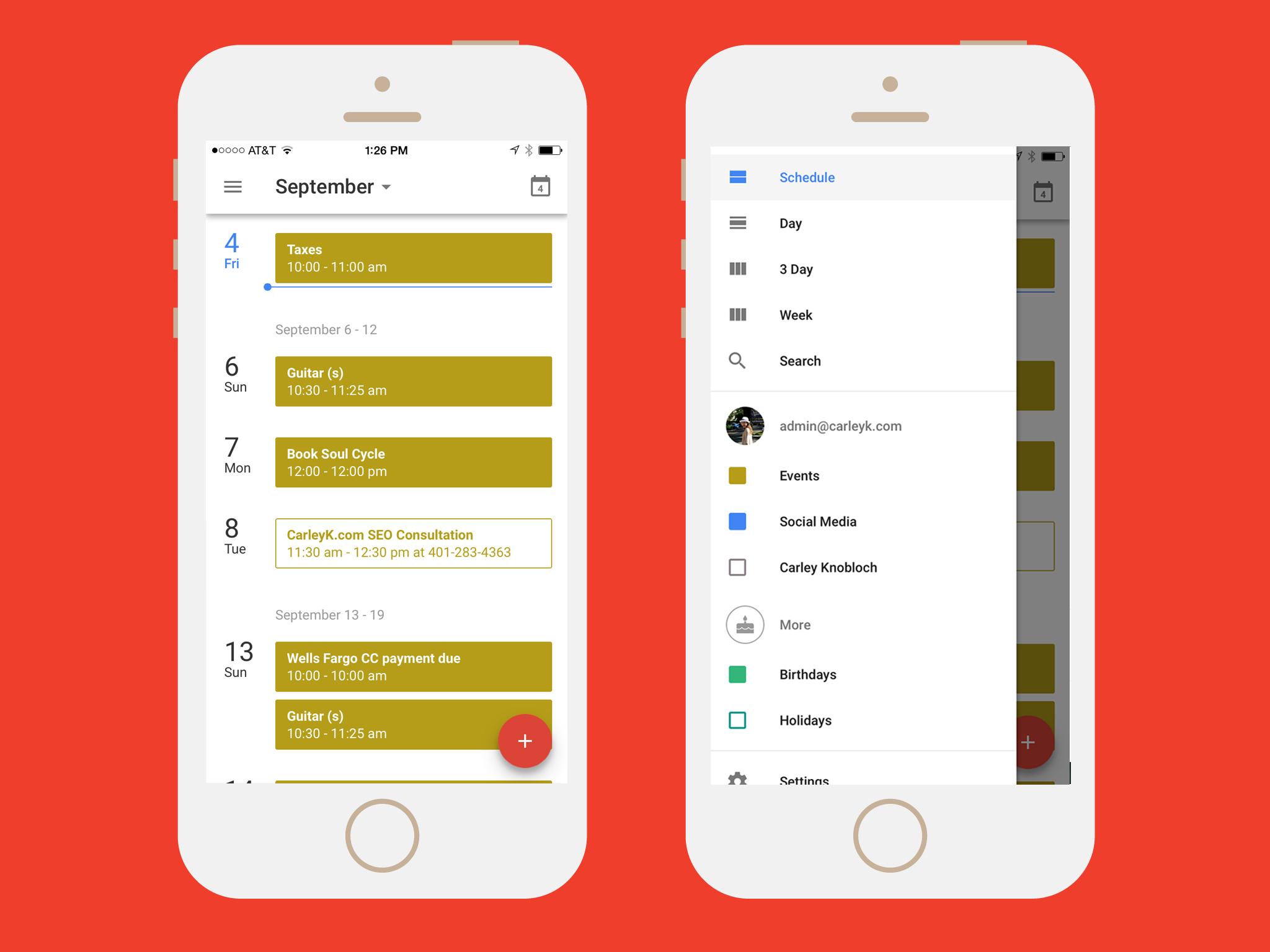 calendar apps: google