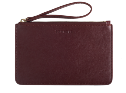 One Truffle Privacy Wristlet in Cabernet