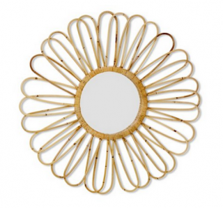 Rattan Sunburst Mirror,