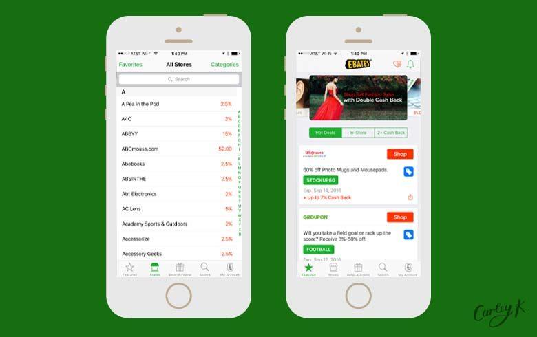 shopping apps: ebates
