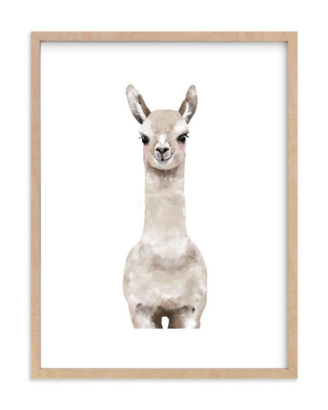 Minted Baby Llama framed art