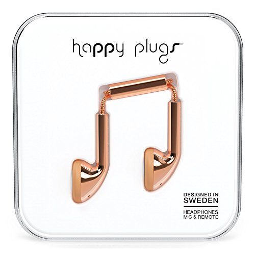 Happy Plugs earbuds in rose gold