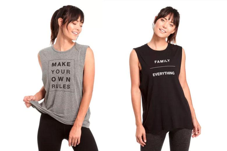 tank tops: workout wear