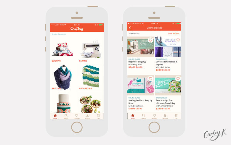 Craftsy: Apps to learn something new in the new year