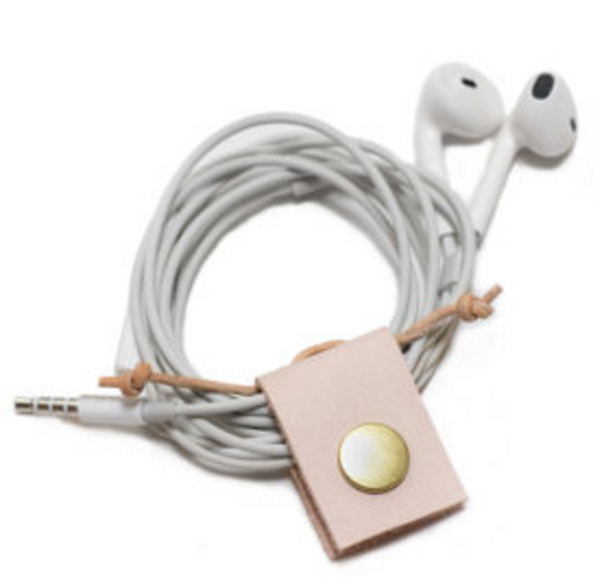 Nude Leather Cord Keeper