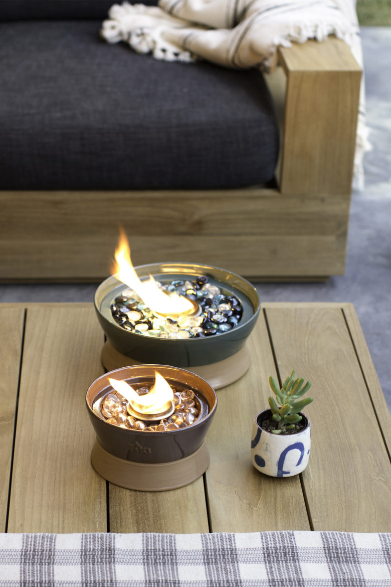 Tiki Brand Clean Burn Tabletop Firepiece
