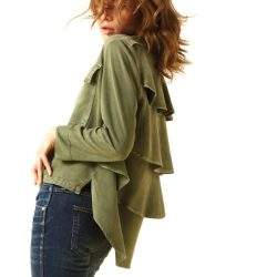 Amo Denim Army Ruffle Jacket
