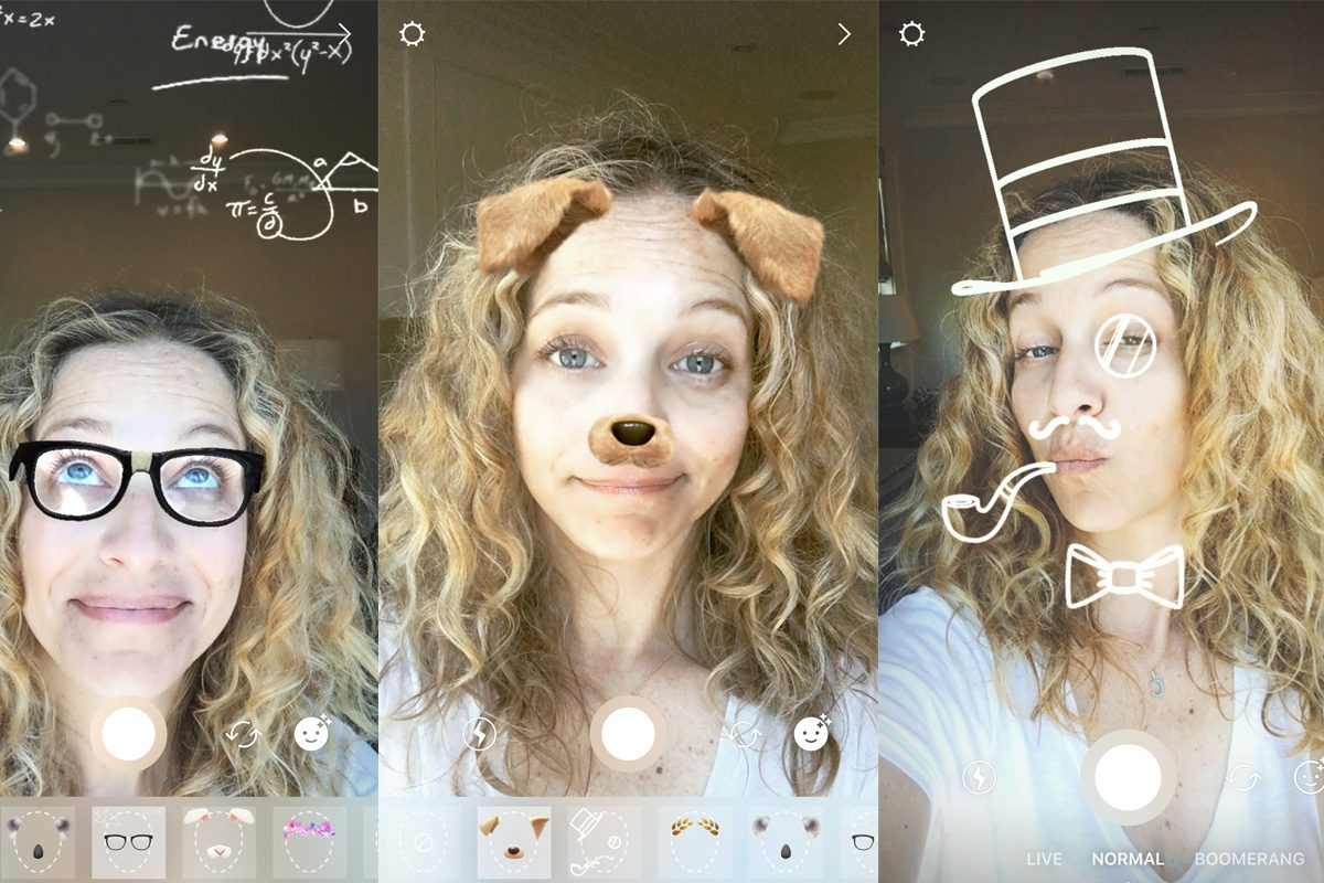Instagram Story Face Filters