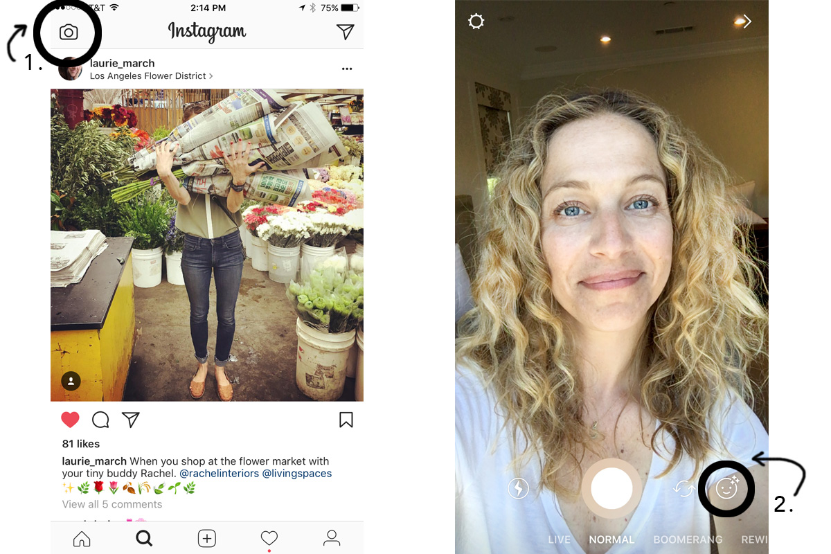How to use instagrams face filters carley k instagram story face filters izmirmasajfo