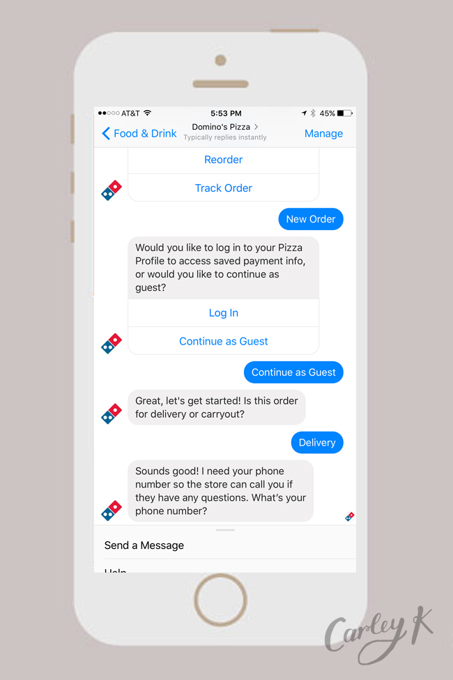 Facebook Messenger Bots: Domino