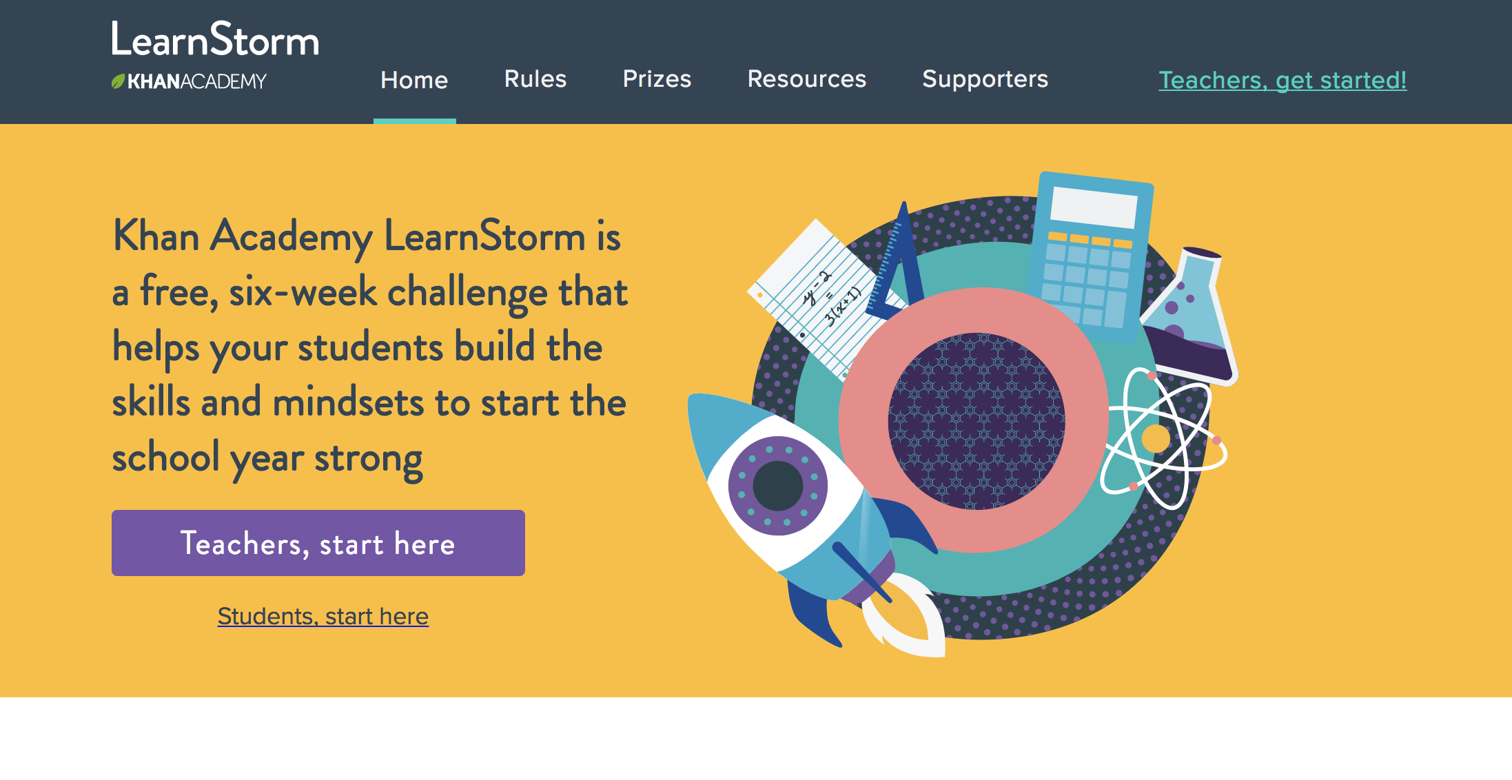 Summer Slide: Khan Academy Learnstorm