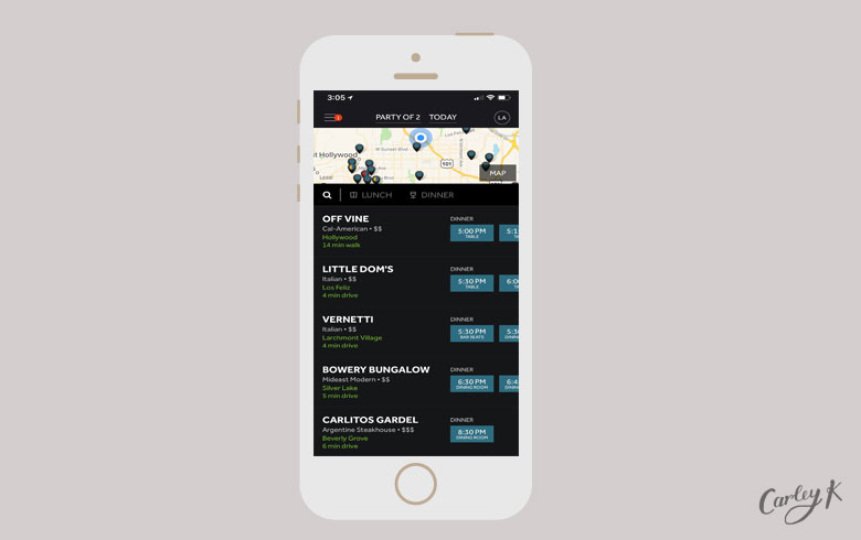 Restaurant Reservation Apps: Resy