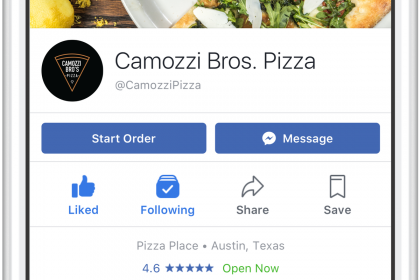 Facebook Order: Takeout apps