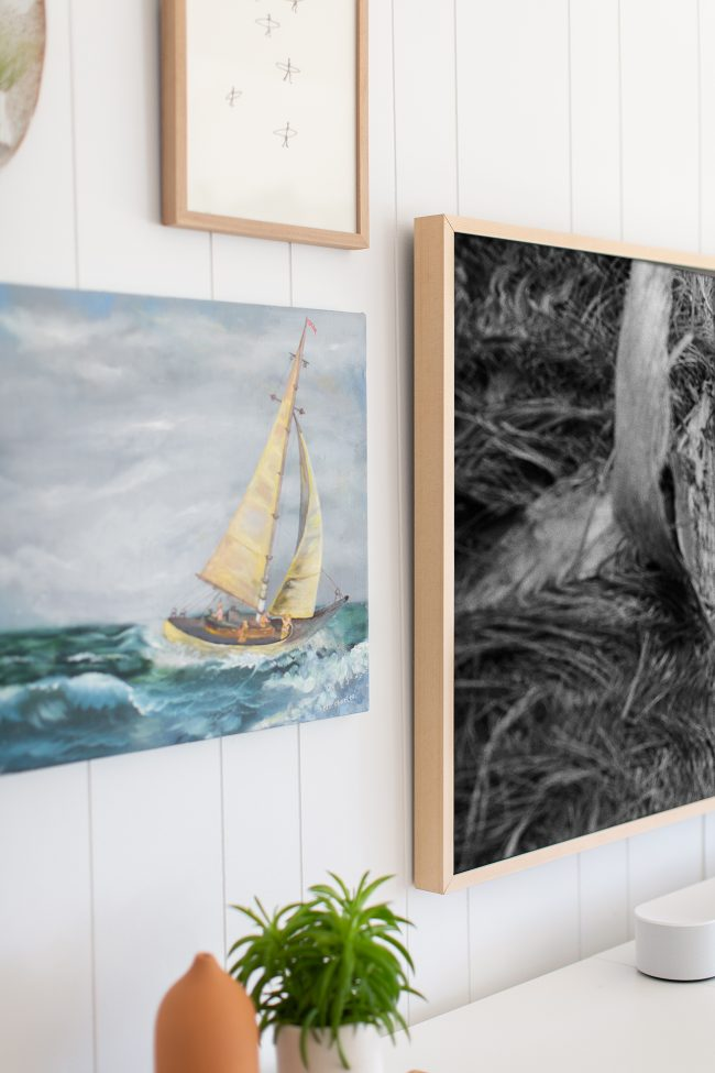 beach house wellness retreat: samsung frame